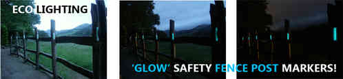safety GLOW FENCE POST MARKERS