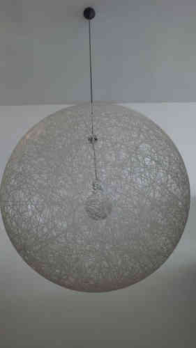 Stunning wicker ball LAMP SHADE that glows at night!